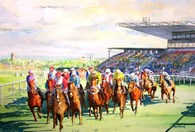 Beverley Races, original watercolour painting by Robin Storey