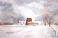 Beverley Golf Club, original watercolour painting by Robin Storey