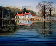 Bishop Burton, original watercolour painting by Robin Storey