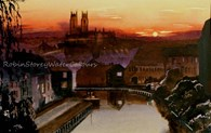 Beverley Beck at sunset, original watercolour painting by Robin Storey