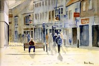 Burton's Corner, original watercolour painting by Robin Storey