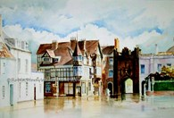 North Bar Without, original watercolour painting by Robin Storey