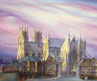 Beverley Minster Early Morning, original watercolour painting by Robin Storey