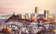 Durham Cathedral and Castle, original watercolour painting by Robin Storey