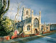 St Mary's Church, original watercolour painting by Robin Storey