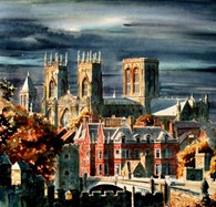 York Minster, original watercolour painting by Robin Storey