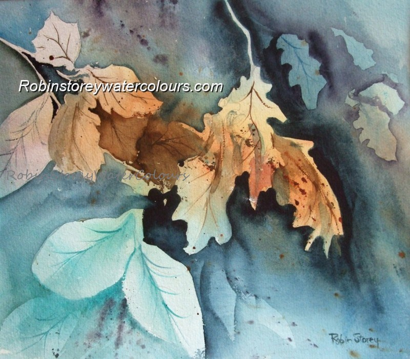 Leaf Study ,original watercolour by Robin Storey
