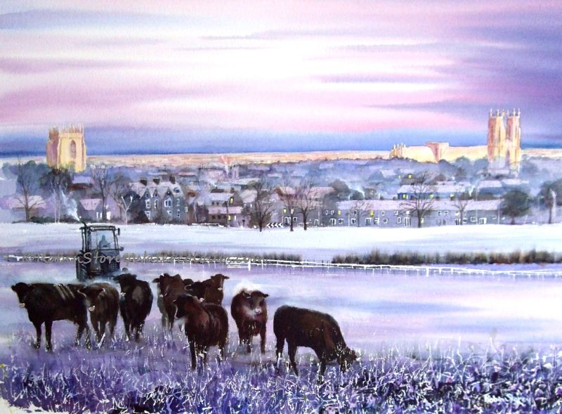 Frosty Westwood ,original watercolour by Robin Storey