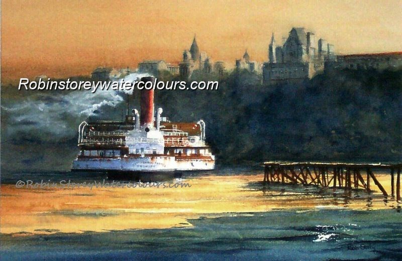 Tattershall Castle ,original watercolour by Robin Storey