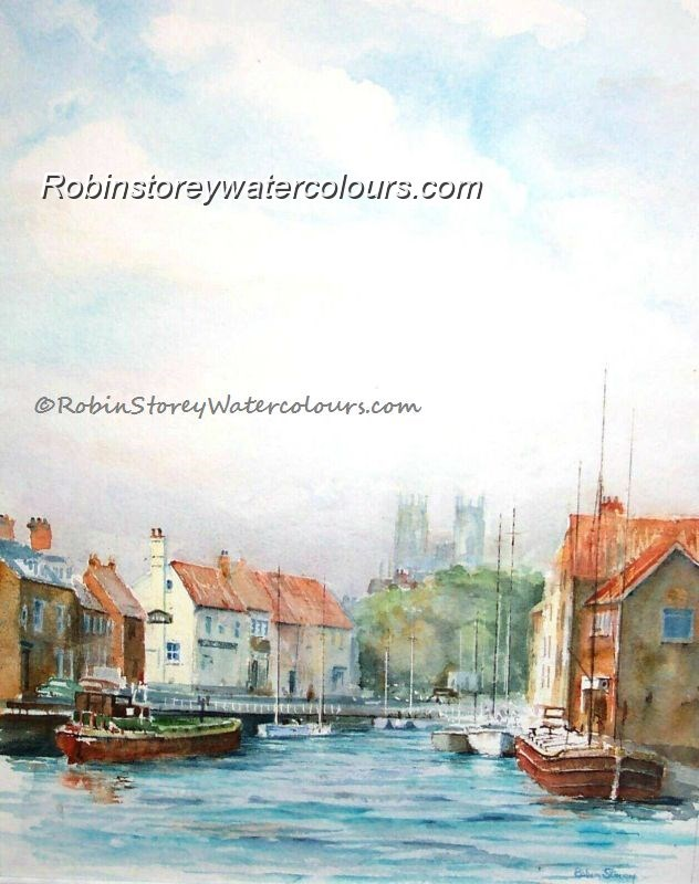 Beverley Beck Morning ,original watercolour by Robin Storey