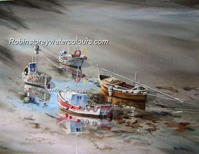 Low Tide ,original watercolour by Robin Storey