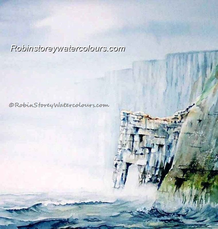 Scale Nab ,original watercolour by Robin Storey
