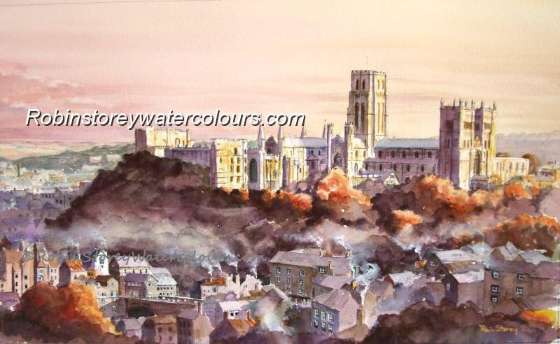 Durham Cathedral and Castle ,original watercolour by Robin Storey