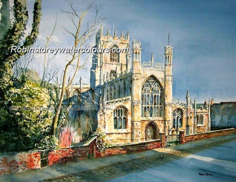 St Mary's Church ,original watercolour by Robin Storey