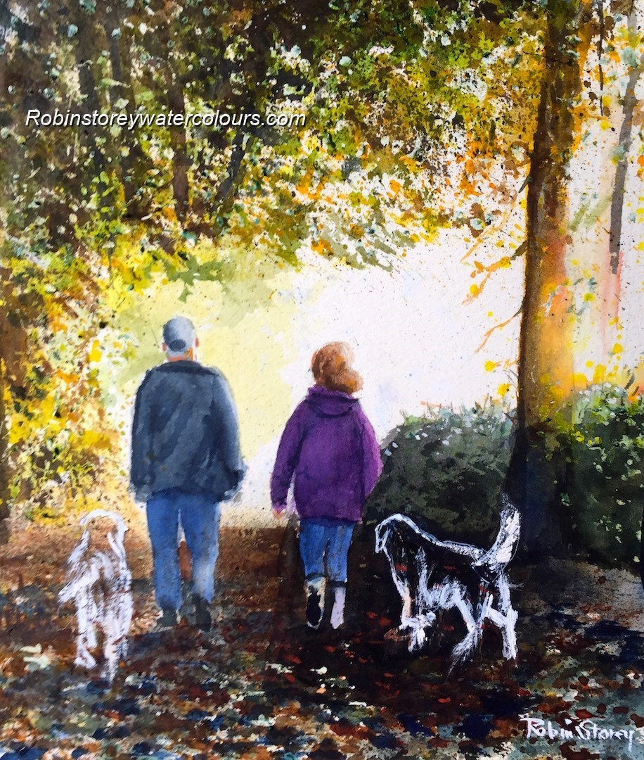 Those we loved ,original watercolour by Robin Storey